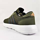 Кроссовки Adidas Мужские Зеленые Хаки Адидас BOOST (размеры: 41,42,43,44,45) Видео Обзор, фото 4