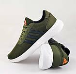 Кроссовки Adidas Мужские Зеленые Хаки Адидас BOOST (размеры: 41,42,43,44,45) Видео Обзор, фото 5