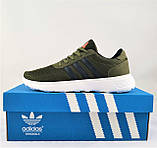 Кроссовки Adidas Мужские Зеленые Хаки Адидас BOOST (размеры: 41,42,43,44,45) Видео Обзор, фото 6