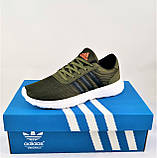 Кроссовки Adidas Мужские Зеленые Хаки Адидас BOOST (размеры: 41,42,43,44,45) Видео Обзор, фото 7