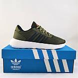 Кроссовки Adidas Мужские Зеленые Хаки Адидас BOOST (размеры: 41,42,43,44,45) Видео Обзор, фото 8