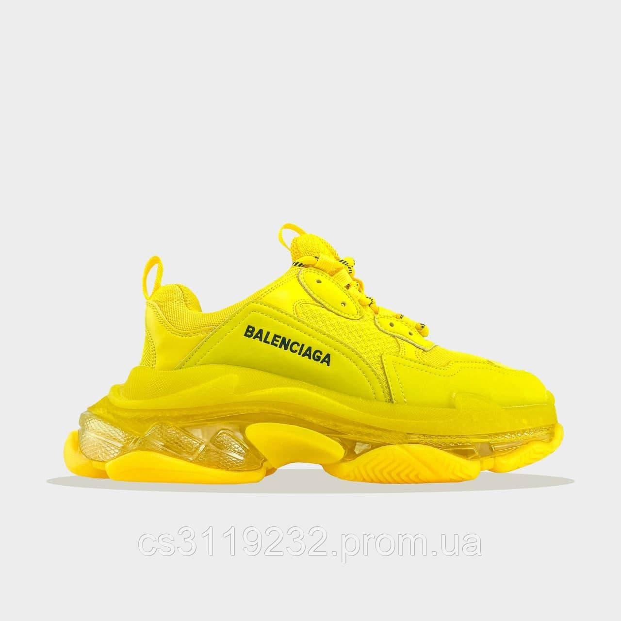 Чоловічі кросівки Balenciaga Triple S Full Yellow (жовті)