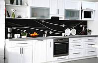 Скинали на кухню Zatarga «Нити бриллиантов» 600х3000 мм виниловая 3Д наклейка кухонный фартук самоклеящаяся, фото 1