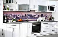Скинали на кухню Zatarga «Деловой центр» 600х2500 мм виниловая 3Д наклейка кухонный фартук самоклеящаяся, фото 1