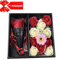 Подарочный набор мыла XY19-80 c Розой + Подарок