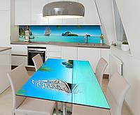Наклейка 3Д виниловая на стол Zatarga «На всех парусах» 650х1200 мм для домов, квартир, столов, кофейн, кафе