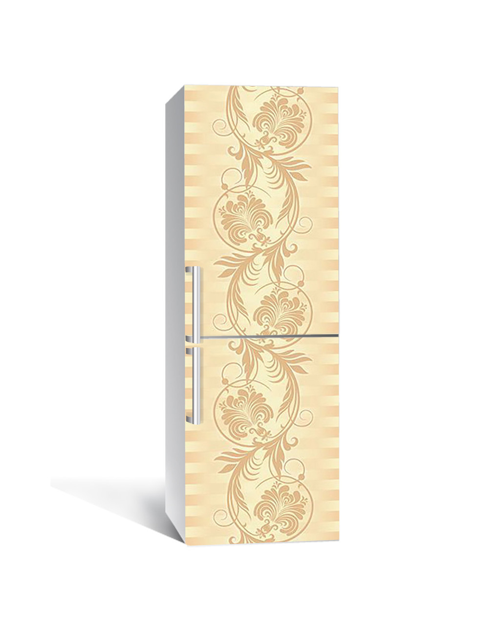 Наклейка на холодильник Zatarga «Перья жар-птицы» 650х2000 мм виниловая 3Д наклейка декор на кухню