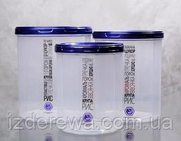 Ёмкость для сыпучих продуктов 1л с синей крышкой Народный продукт