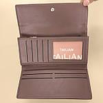 Кошелёк женский из искусственной кожи Tailian ( T5663-001) пудра темная, фото 4