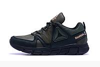 Мужские кожаные кроссовки Reebok Classic Tracking green зеленые, фото 1
