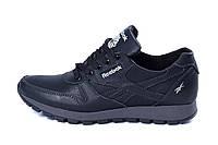 Мужские кожаные кроссовки Reebok Classic Black , фото 1