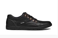 Чоловічі шкіряні туфлі Leather black shoes чорні