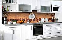 Скинали на кухню Zatarga «Чашка любимого напитка» 600х3000 мм виниловая 3Д наклейка кухонный фартук, фото 1