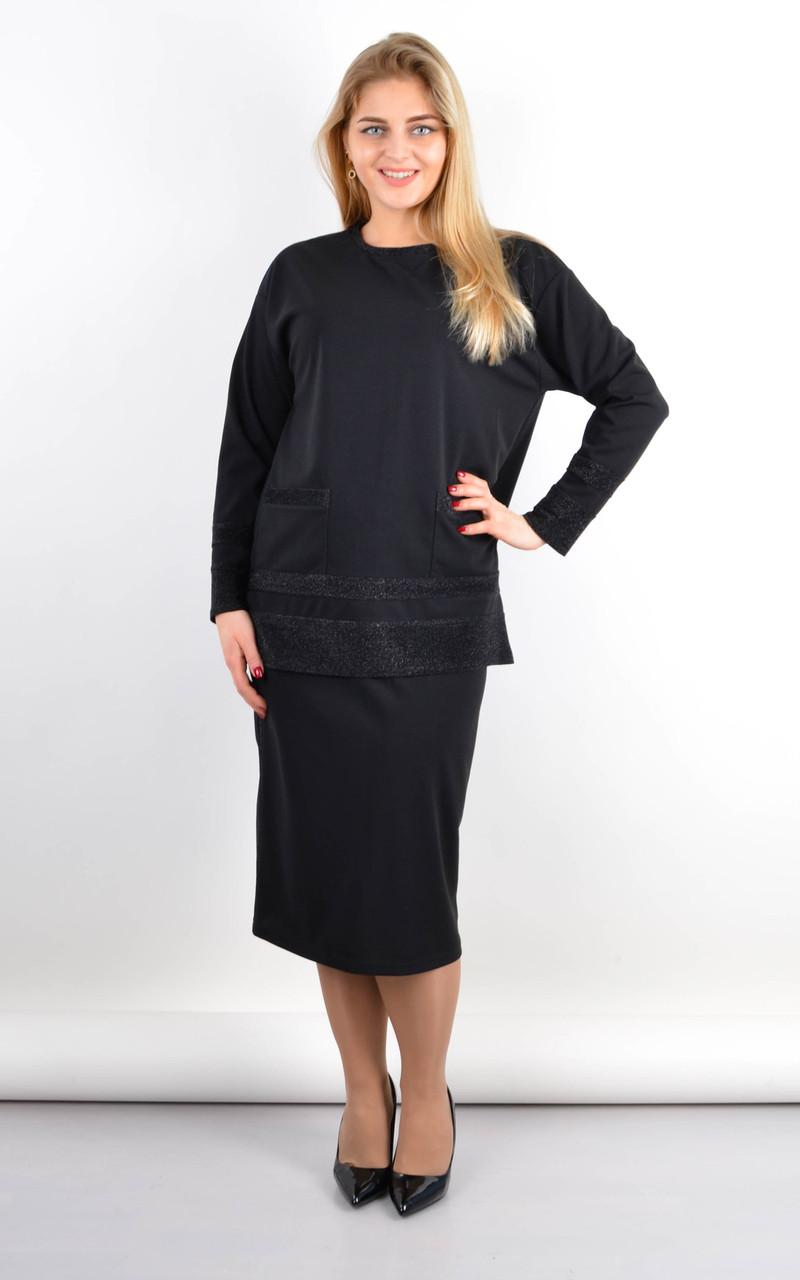 Венето. Комфортний жіночий костюм двійка великих розмірів.