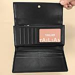 Кошелёк женский из искусственной кожи Tailian ( T5663-001) черный, фото 6