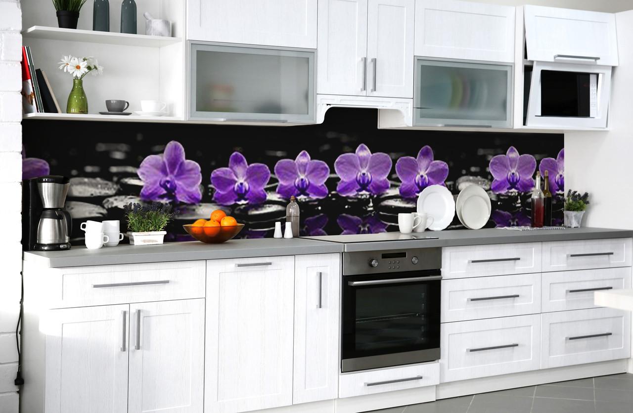 Скинали на кухню Zatarga «Полуночная медитация» 650х2500 мм виниловая 3Д наклейка кухонный фартук