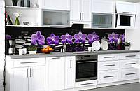 Скинали на кухню Zatarga «Полуночная медитация» 650х2500 мм виниловая 3Д наклейка кухонный фартук, фото 1
