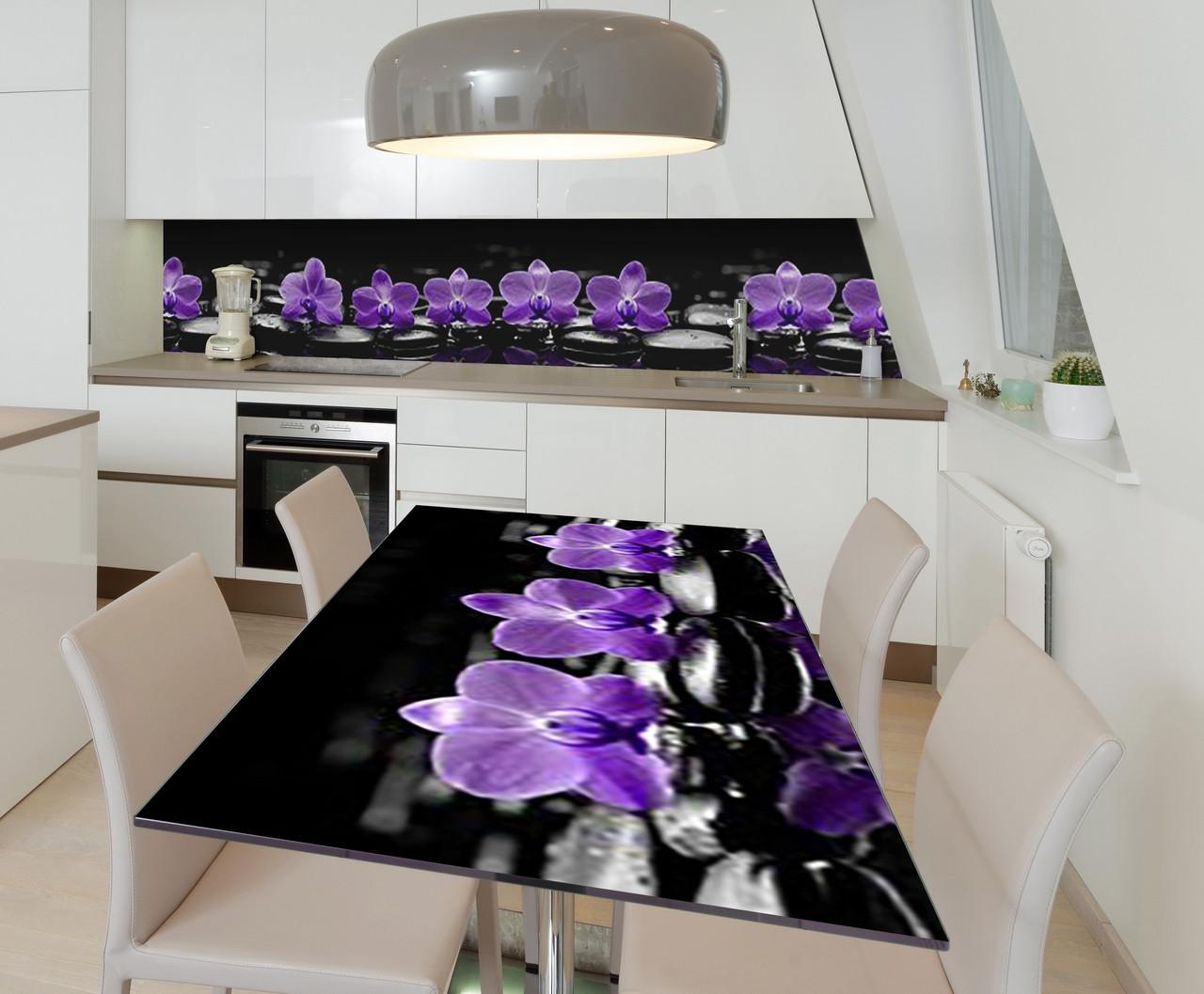 Наклейка 3Д виниловая на стол Zatarga «Полуночная медитация» 600х1200 мм для домов, квартир, столов, кофейн,
