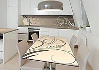 Наклейка 3Д виниловая на стол Zatarga «Классический вензель» 650х1200 мм для домов, квартир, столов, кофейн,