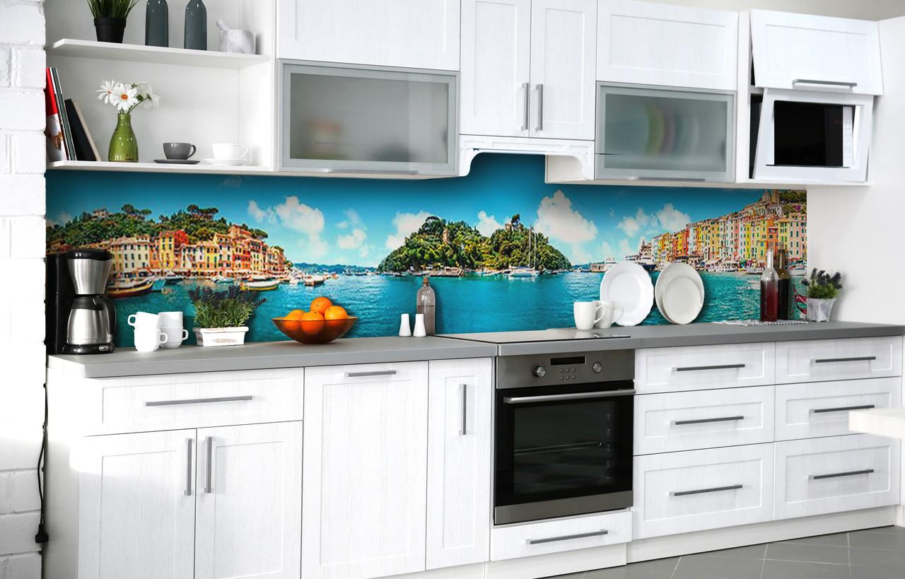 Скинали на кухню Zatarga «Чары Италии» 650х2500 мм виниловая 3Д наклейка кухонный фартук самоклеящаяся