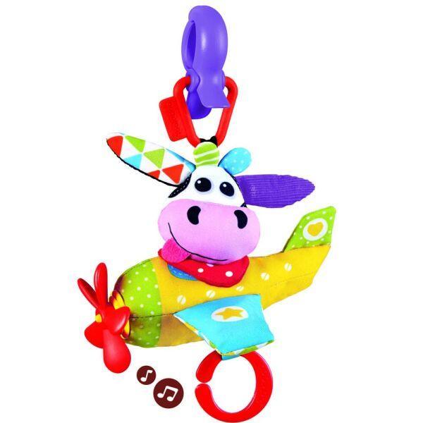 Іграшка-підвіска музична Корівка-пілот, Yookidoo