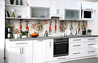 Скинали на кухню Zatarga «Африканские девушки» 650х2500 мм виниловая 3Д наклейка кухонный фартук самоклеящаяся, фото 1