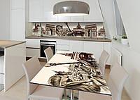 Наклейка 3Д виниловая на стол Zatarga «Тайны парижских крыш» 650х1200 мм для домов, квартир, столов, кофейн,