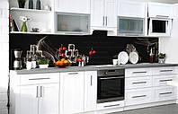 Скинали на кухню Zatarga «Холодный взгляд» 650х2500 мм виниловая 3Д наклейка кухонный фартук самоклеящаяся, фото 1