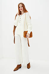 Джемпер из мягкой пряжи с содержанием шерсти. Цвет белый. Размер 42-44, 46-48