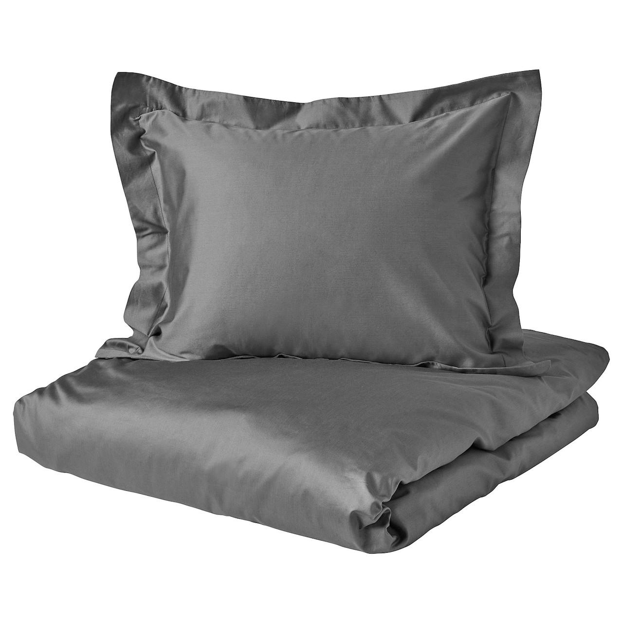 IKEA LUKTJASMIN  Комплект постельного белья, темно-серый (404.425.34)