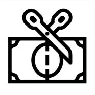 иконка разрезанная купюра