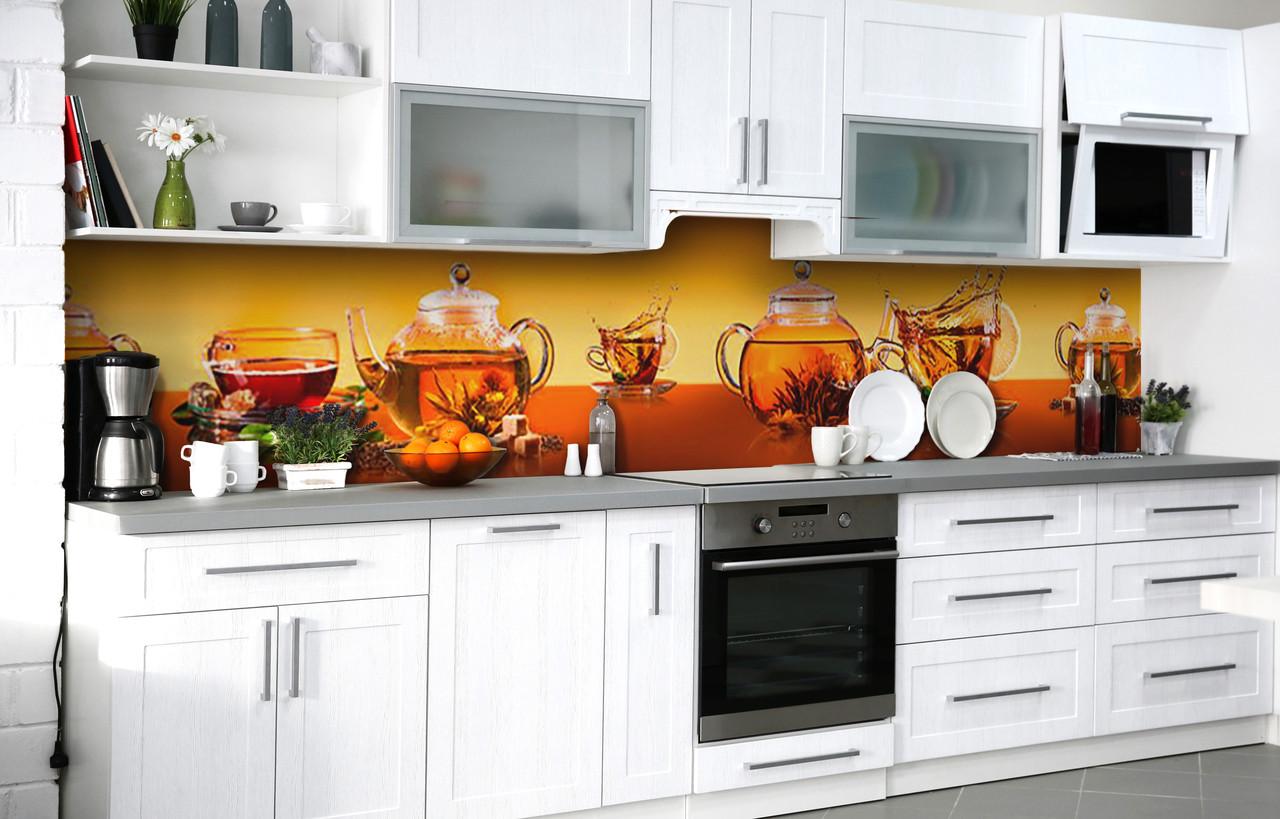 Скинали на кухню Zatarga «Тростниковый сахар» 600х2500 мм виниловая 3Д наклейка кухонный фартук самоклеящаяся