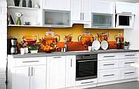 Скинали на кухню Zatarga «Тростниковый сахар» 600х2500 мм виниловая 3Д наклейка кухонный фартук самоклеящаяся, фото 1