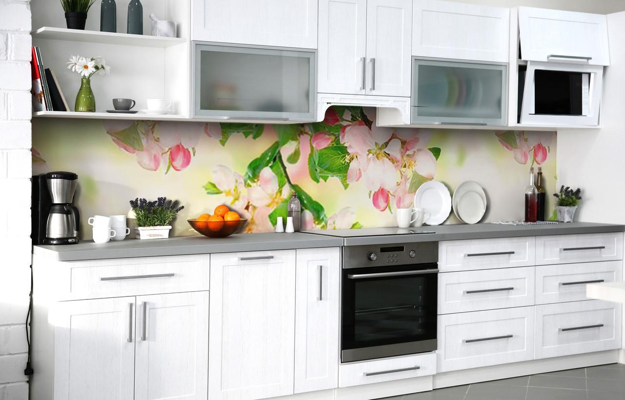Скинали на кухню Zatarga «Вишнёвый аромат» 600х2500 мм виниловая 3Д наклейка кухонный фартук самоклеящаяся