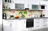 Скинали на кухню Zatarga «Вишнёвый аромат» 600х2500 мм виниловая 3Д наклейка кухонный фартук самоклеящаяся, фото 1
