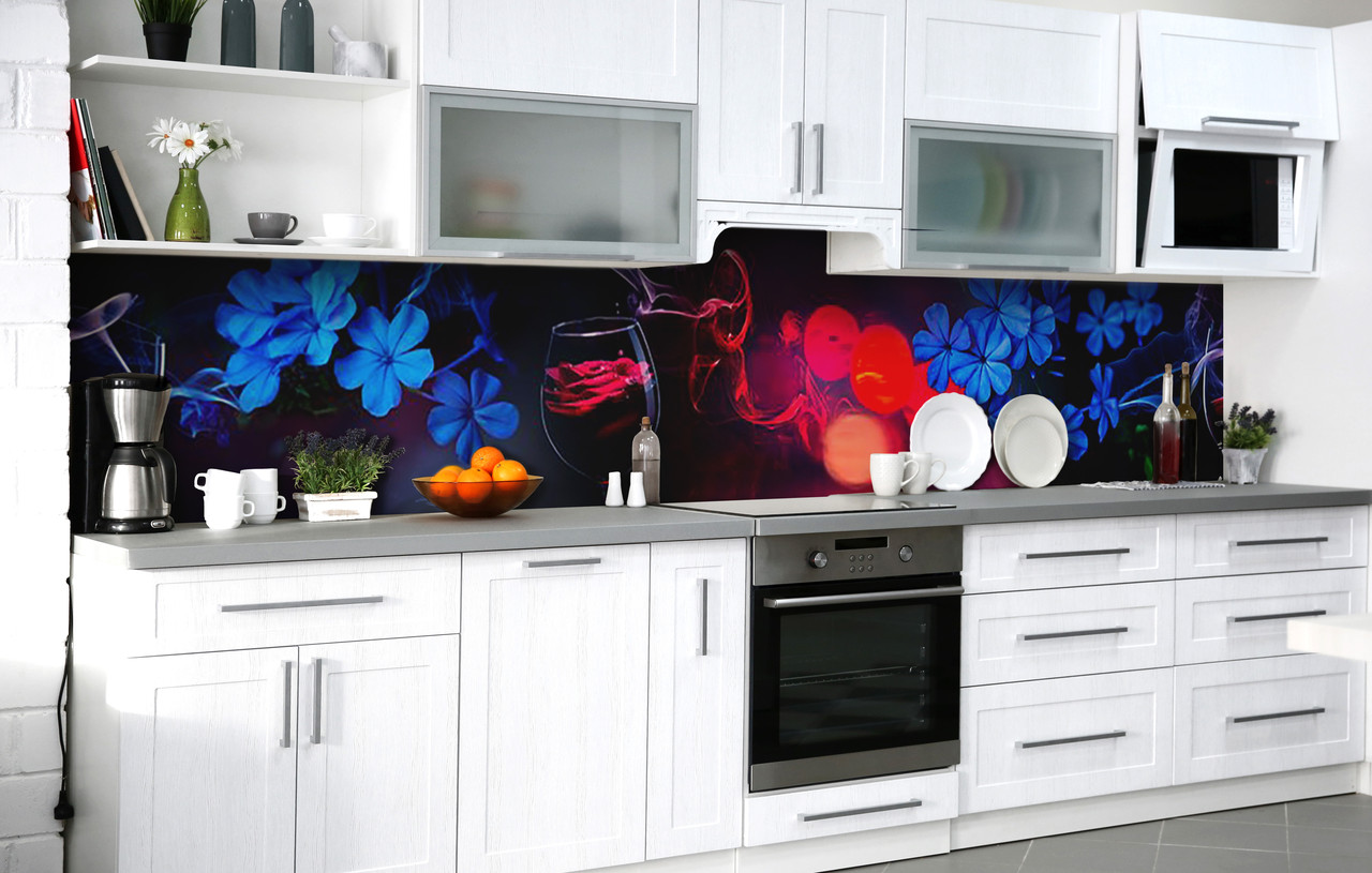 Скинали на кухню Zatarga «Любовное зелье» 600х3000 мм виниловая 3Д наклейка кухонный фартук самоклеящаяся