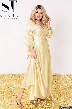 Вечірня сукня | Трикотаж з блиском | Золото | р-р 48-52 (2), 54-58 (3), 60-64 (4)