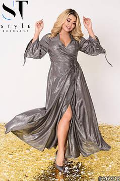 Вечірня сукня | Трикотаж з блиском | Срібло | р-р 48-52 (2), 54-58 (3), 60-64 (4)