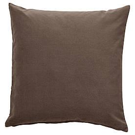 IKEA SANELA  Наволочка, серый / коричневый (904.901.98)