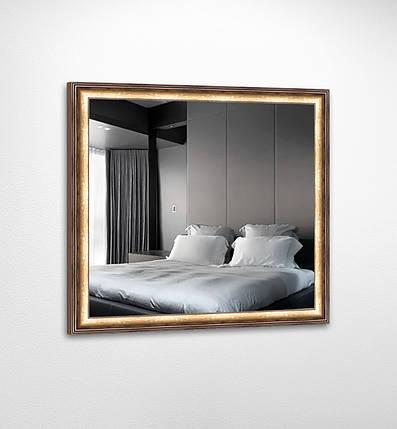 Настенное зеркало БЦ Стол Эрика квадратное B03 золотое, фото 2
