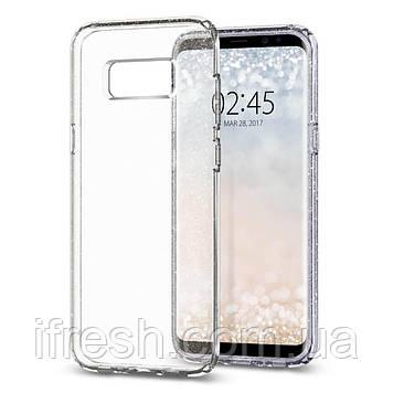 Чехол Spigen для Samsung S8 Plus Liquid Crystal Glitter, Crystal Quartz