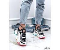 Кроссовки черно-белые WHAT DO YOU WANT код 28123, фото 1