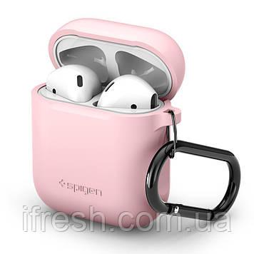Чехол силиконовый Spigen для наушников Apple AirPods, Pink (066CS24810)