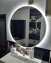 Круглое зеркало для ванной комнаты с подсветкой 60см