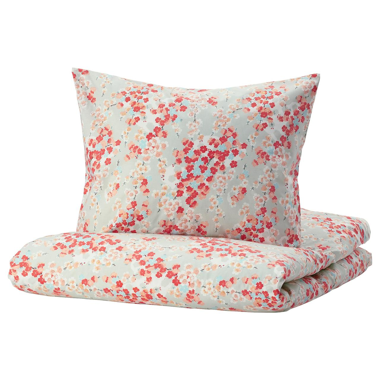IKEA KLIBBGLIM  Комплект постельного белья, разноцветный / цветочный узор (104.822.63)
