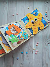 Книжечка-игрушка для детей 15*15 см развивающая ручной работы 19