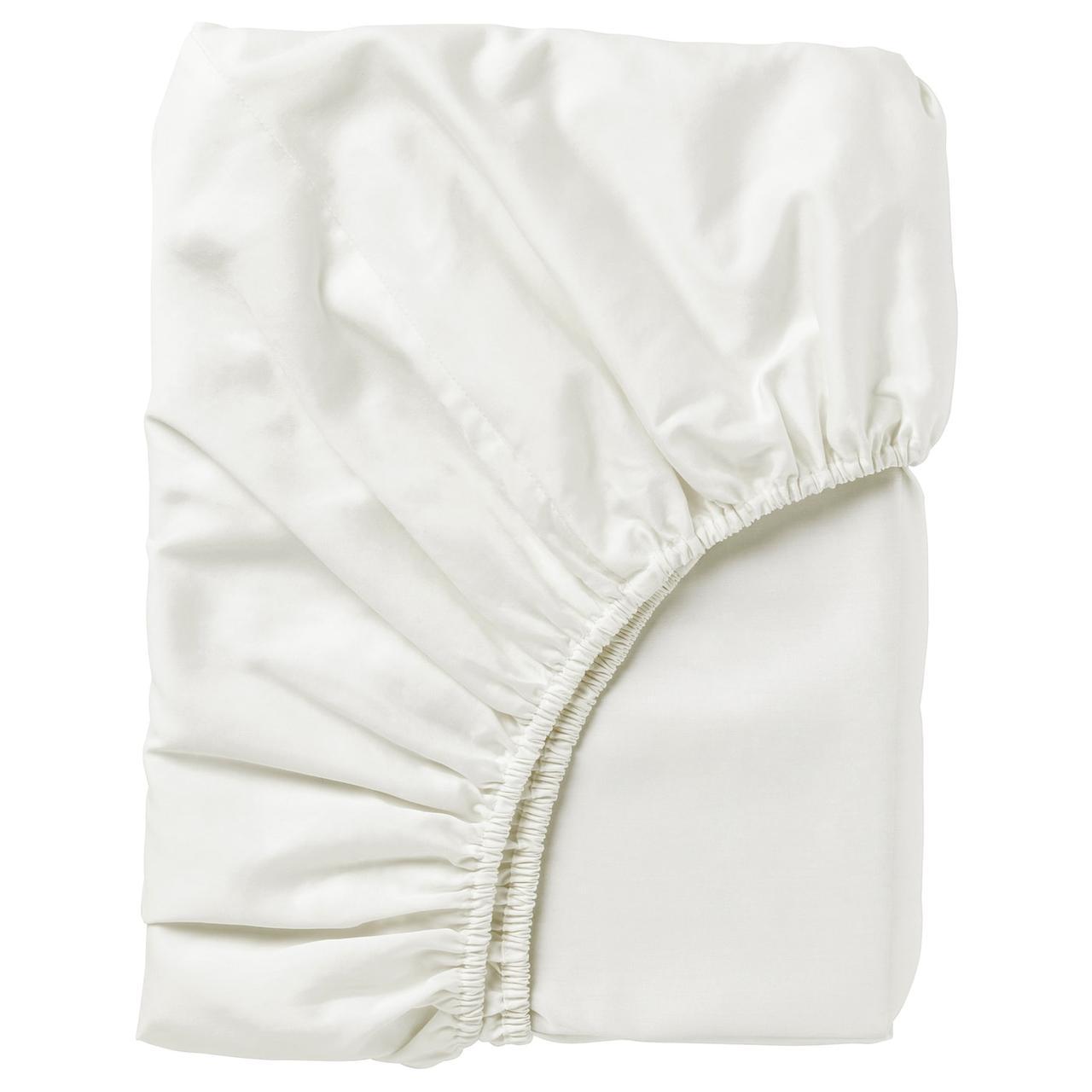 IKEA NATTJASMIN  Простыня на резинке, белая (303.437.04)