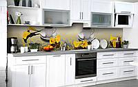 Скинали на кухню Zatarga «Поэтичное расставание» 600х3000 мм виниловая 3Д наклейка кухонный фартук, фото 1