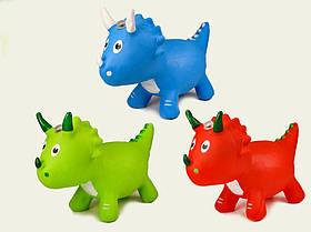 Стрибун гумовий динозавр (дракон), дитячий стрибун для малюків за типом конячки від 1 року 2017