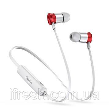 Наушники Bluetooth Baseus Sports Encok Earphone S07, Silver+Red (NGS07-S9)
